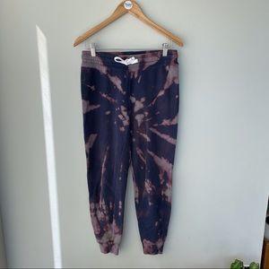 Bleach dyed sweatpants